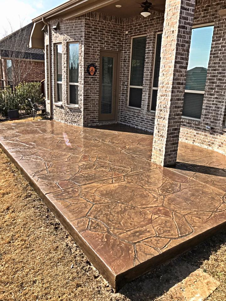 Stamped Concrete Patio : Stamped concrete patio remodeling contractor complete