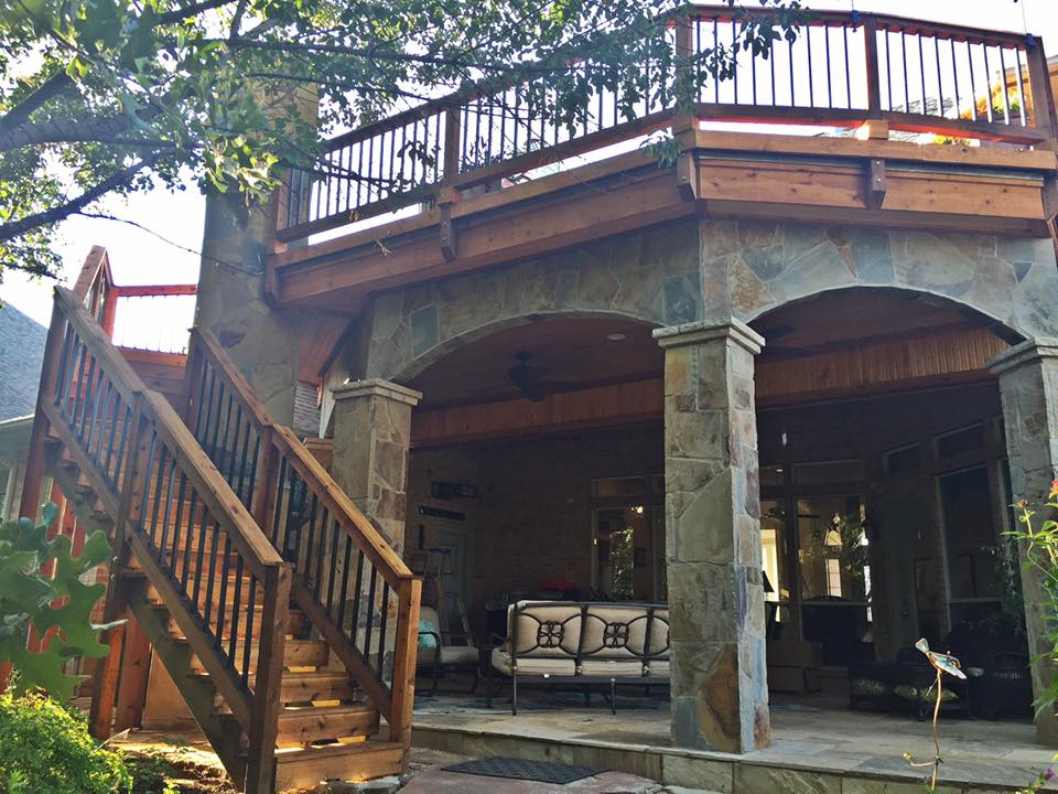 Patio With Second Level Deck Remodeling Contractor